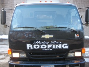 Massachusetts Industrial Commercial Roofing Company Truck